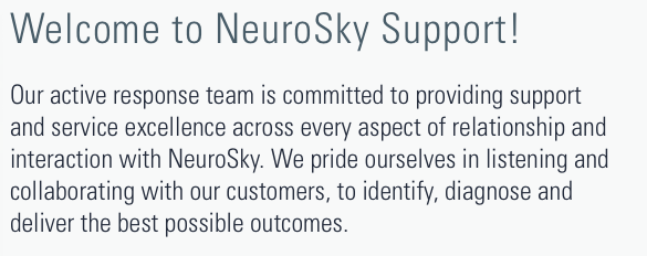 welcome to NeuroSky